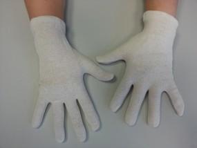 Baumwollhandschuhe weiß, 25cm